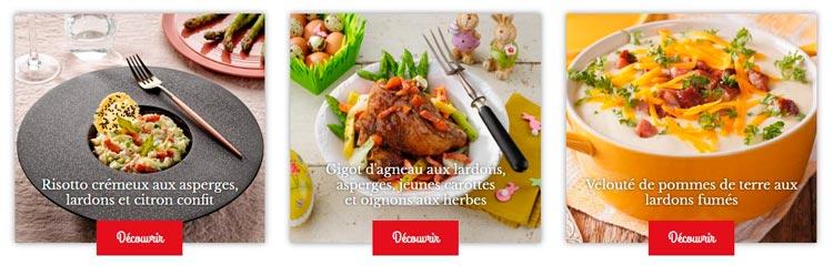 recettes aux lardons Madrange
