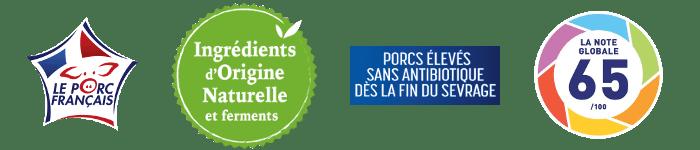 Logos Mon Jambon Blanc et La Note Globale