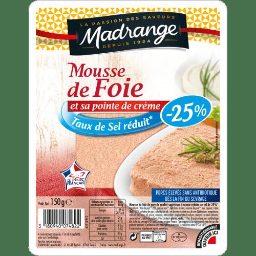 Mousse de foie<br>Taux de sel réduit* -25%