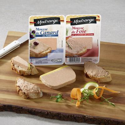 plateau mousse de canard et mousse de foie