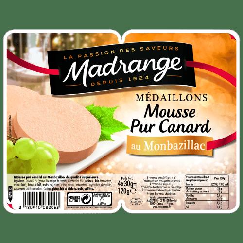 Médaillons Mousse Pur Canard <br><i>au Monbazillac</i>