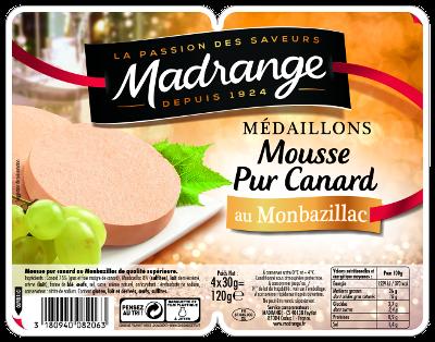 Médaillons Mousse Pur Canard au Monbazillac