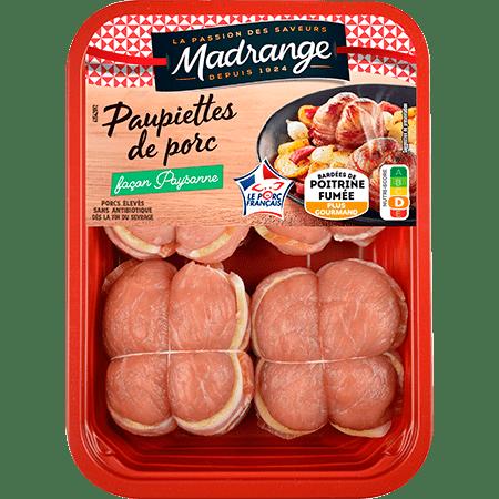 Paupiettes de porc lardées façon paysanne x4