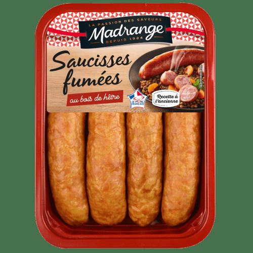 Saucisses fumées <br><i>au bois de hêtre</i>