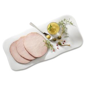 Tranches de rôti de porc dans une assiette