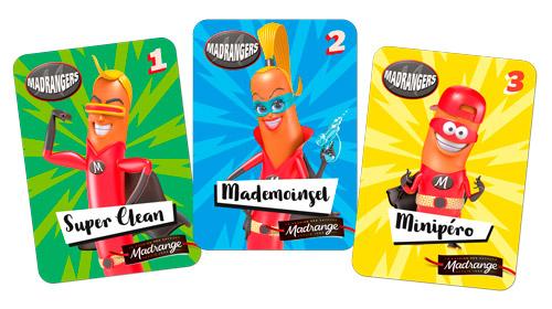 Trois cartes des Madrangers