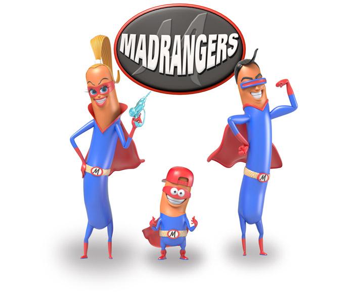 Les super-héros Madrangers de Madrange