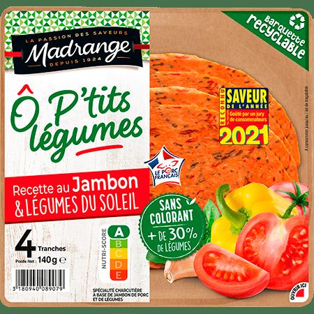 Recette au jambon <br><i>& légumes du soleil</i>