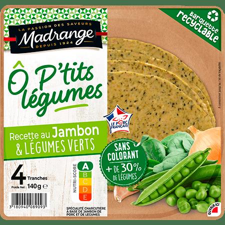 recette au jambon et légumes verts Ô P'tits Légumes 2021