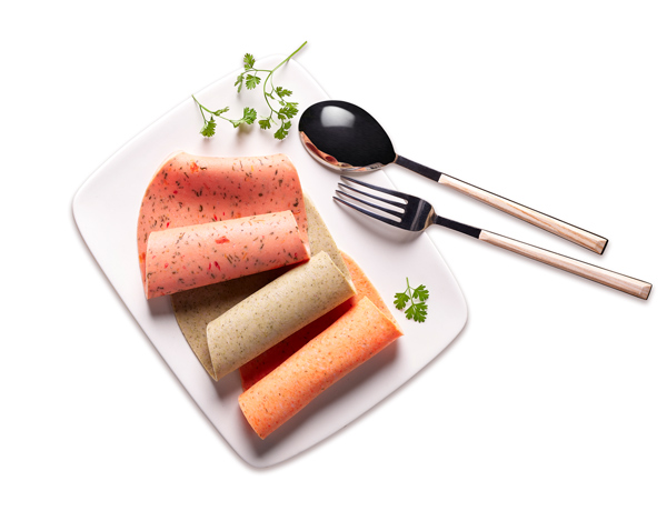assiette de jambons aux légumes