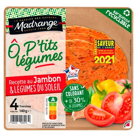 Recette de jambon aux légumes du soleil