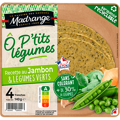 Recette au jambon <br><i>& Légumes verts</i>