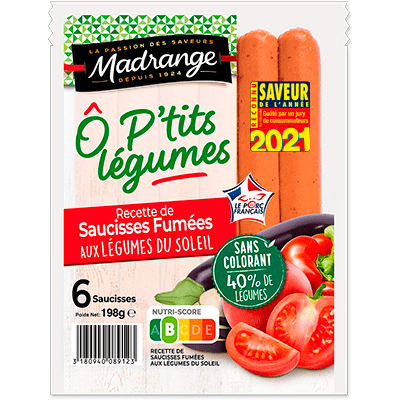 Recette de saucisses fumées <br><i>aux légumes du soleil</i>