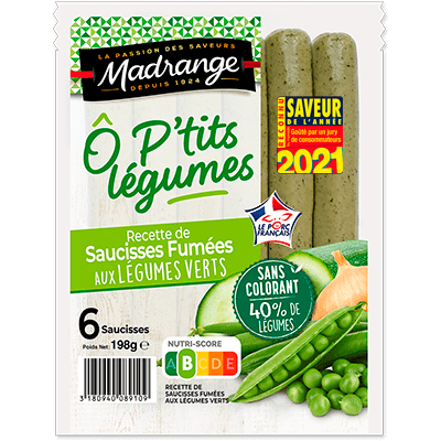 Saucisses aux légumes verts Ô P'tits légumes