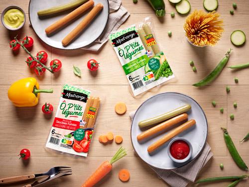 Saucisses fumées aux légumes