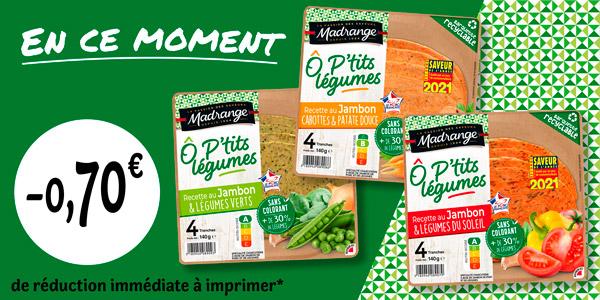 Webcoupon gamme Ô P'tits Légumes