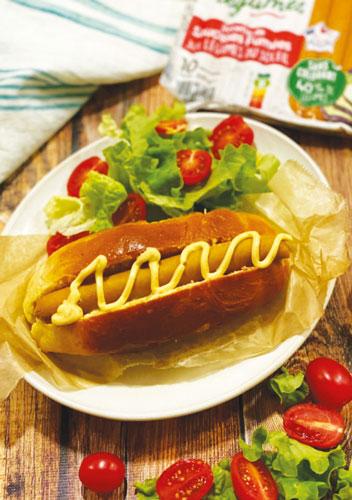 Hot dog maison saucisse oignons